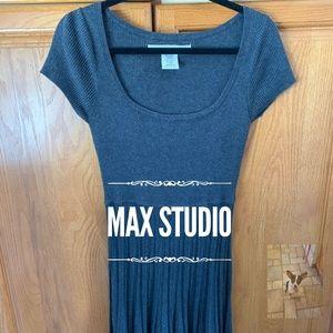 Max Studio gray knit dress size S
